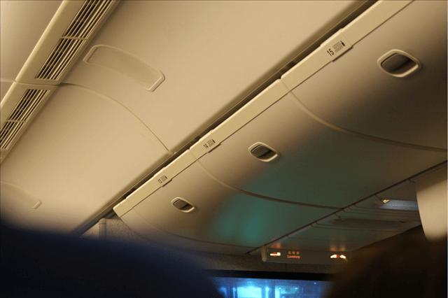 機内での出来事 飛行機